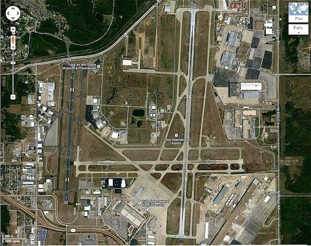 aéroport Tulsa pistes