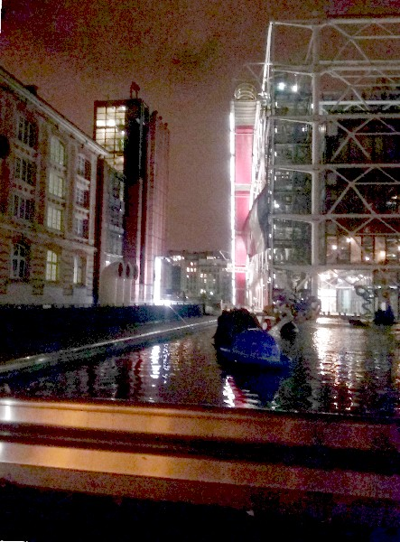 bassin ircam beaubourg nuit