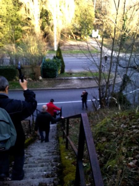 descente escalier panorama